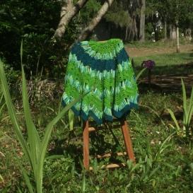 Shawl in garden